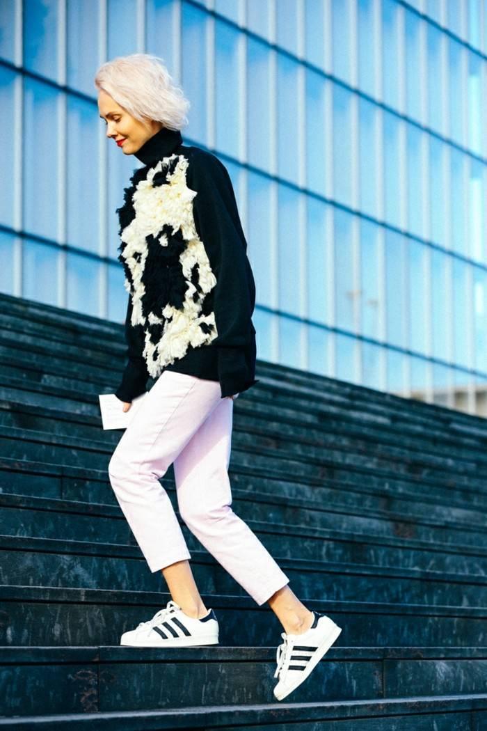 ropa invierno 2015 jersey negro blanco ideas