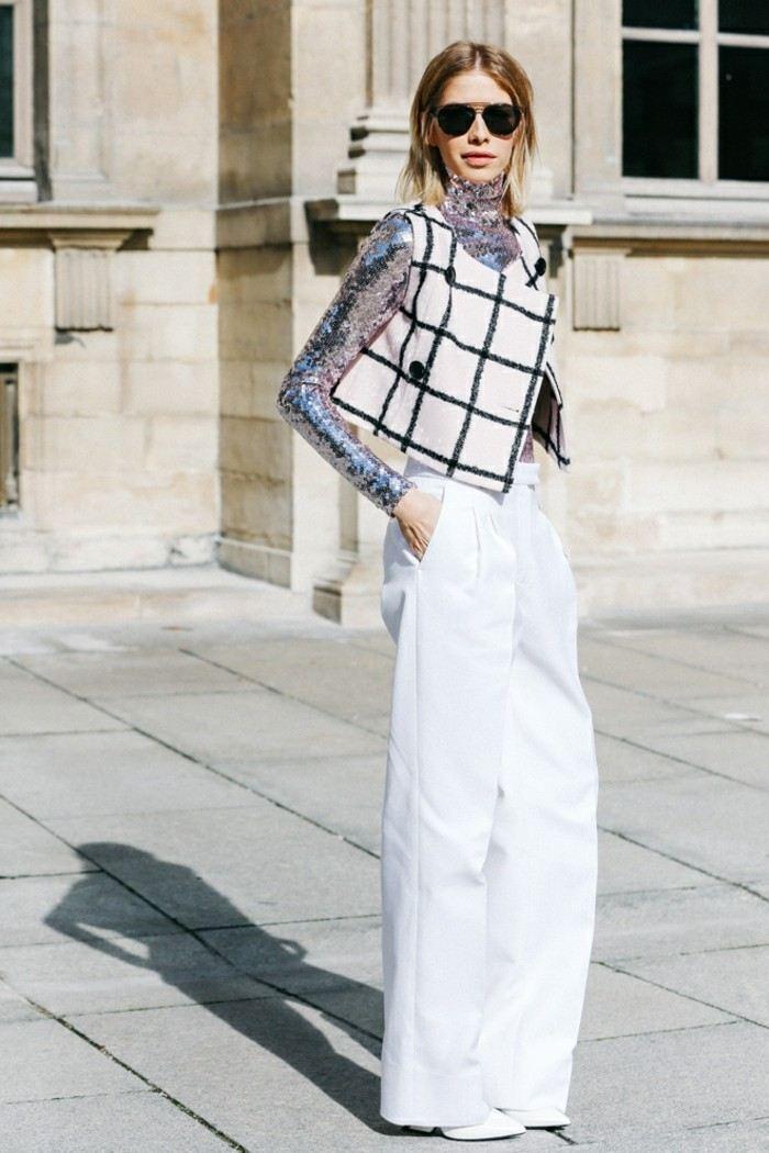 ropa invierno 2015 pantalon ancho blanco ideas