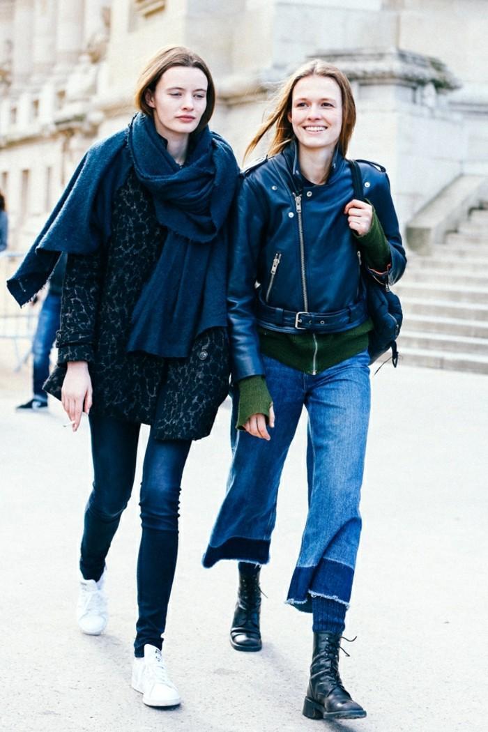 ropa invierno 2015 vaqueros abrigo chaqueta ideas