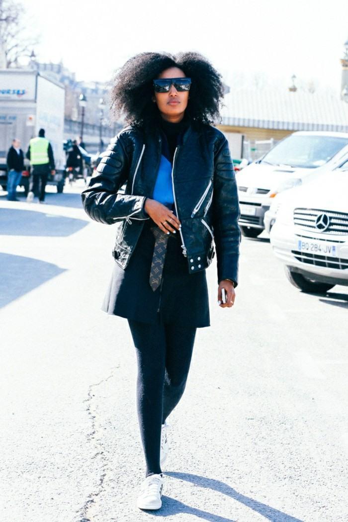 ropa invierno 2015 chaqueta cuero ideas