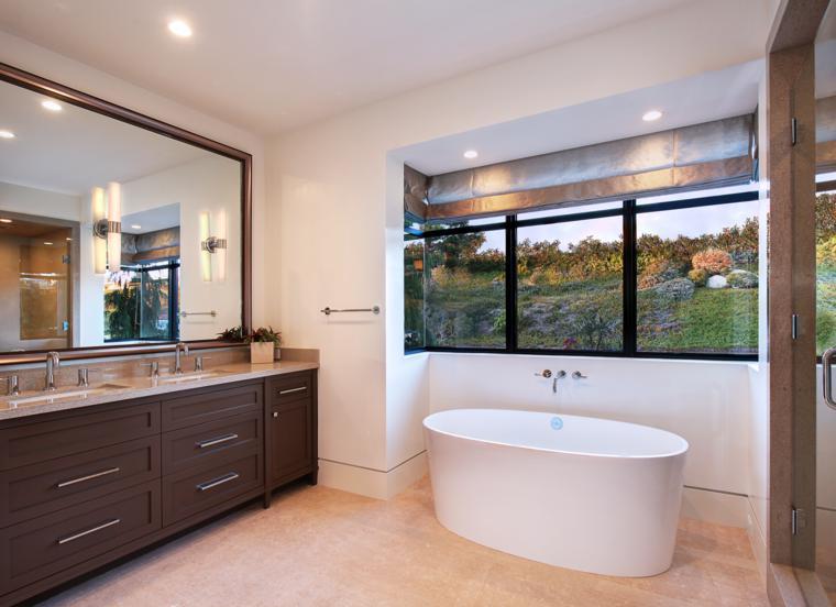 baño moderno espejo grande
