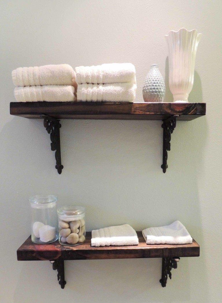 Estantes De Pared Para Baño:Original estante de baño de diseño casero