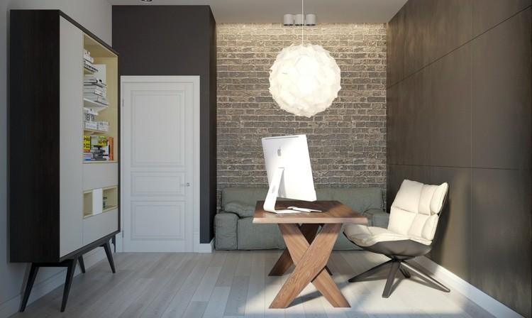 escritorio blanco esferas estantes mesa