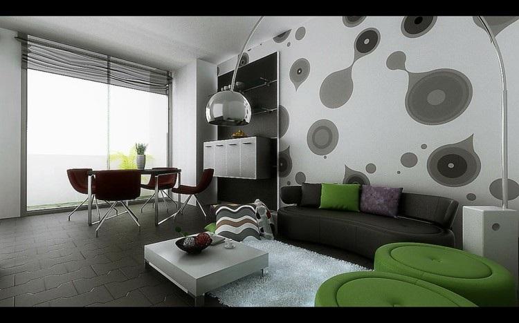 esferas lamparas diseños verde grises