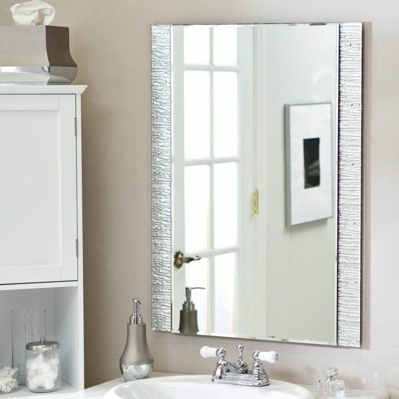 espejo rectangulo lados adornos
