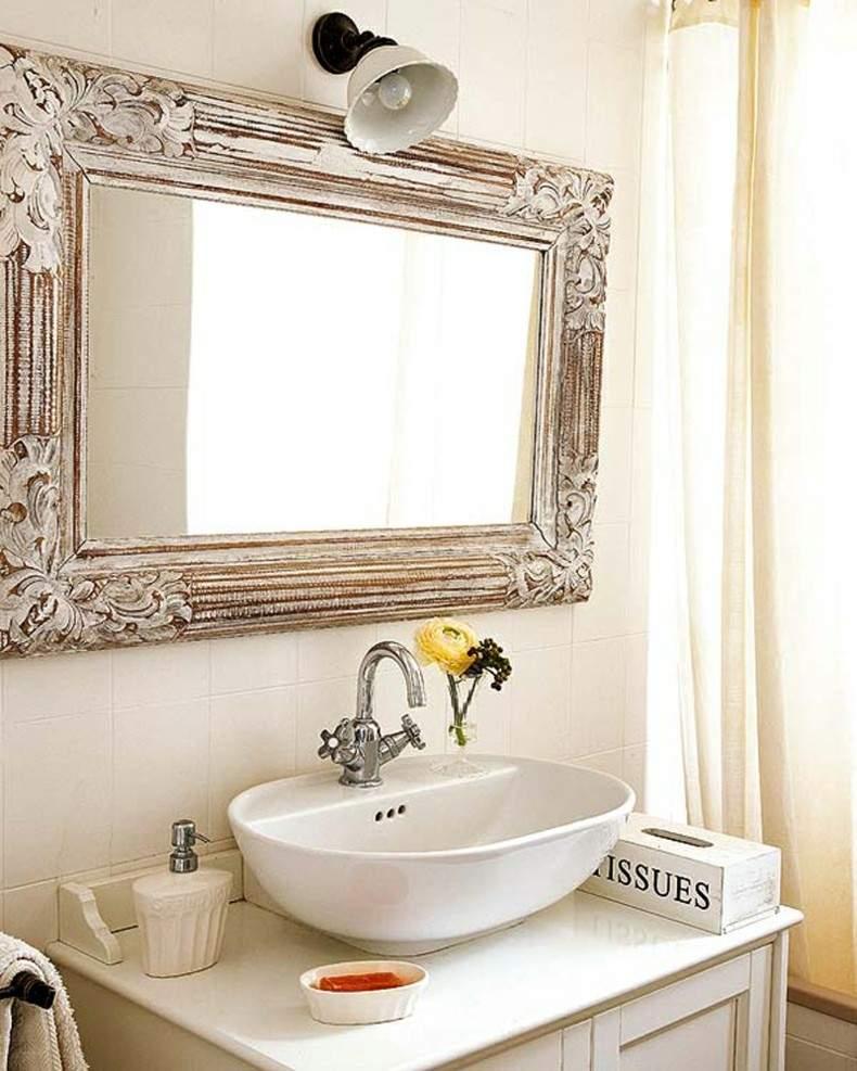 Espejos para ba os modernos 38 modelos con estilo - Banos vintage modernos ...