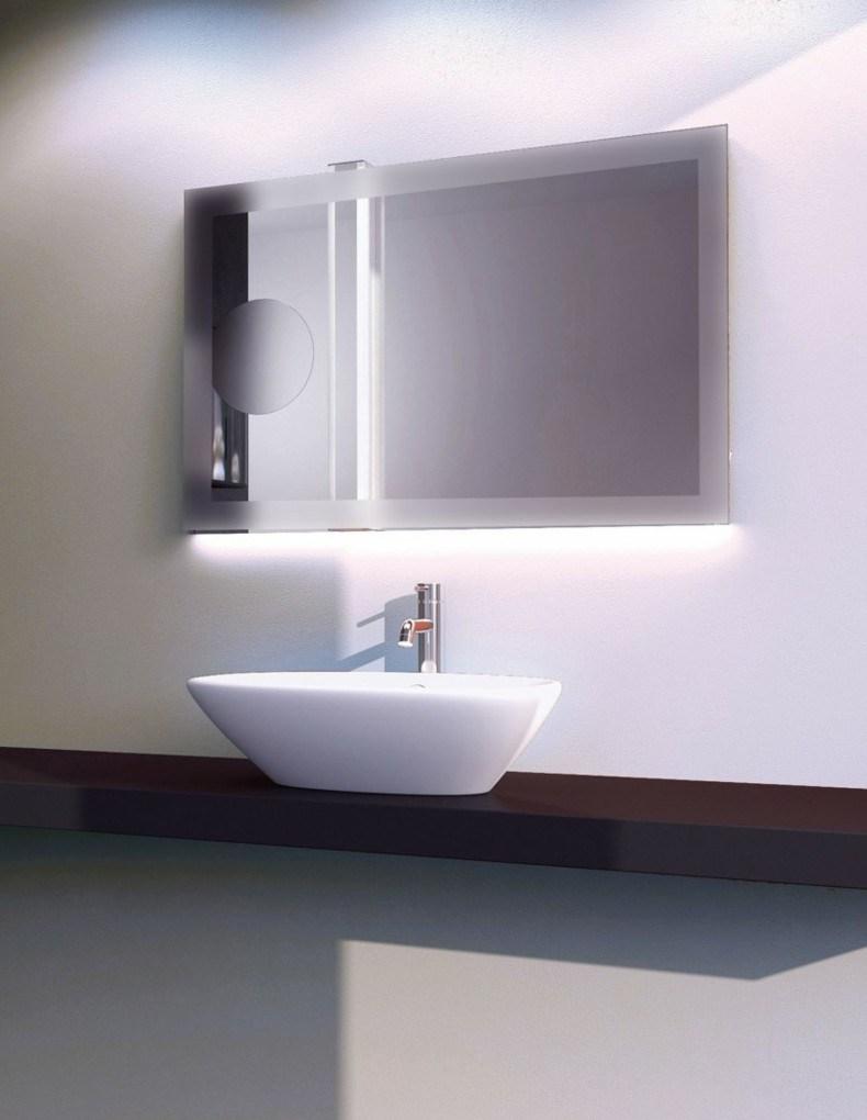espejo moderno luces integradas led