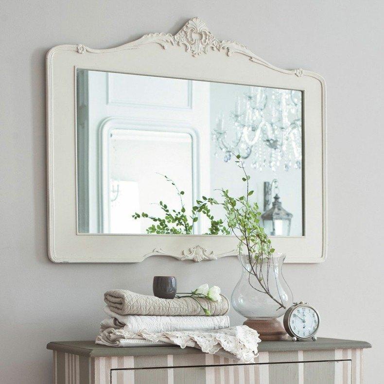 espejos para baños blanco estilo retro