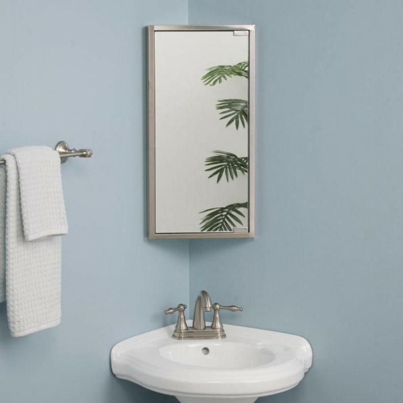 Bathroom Corner Cabinet Mirror