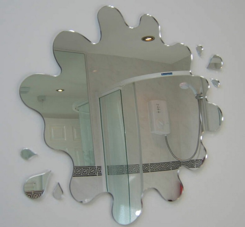 espejo baño forma de mancha