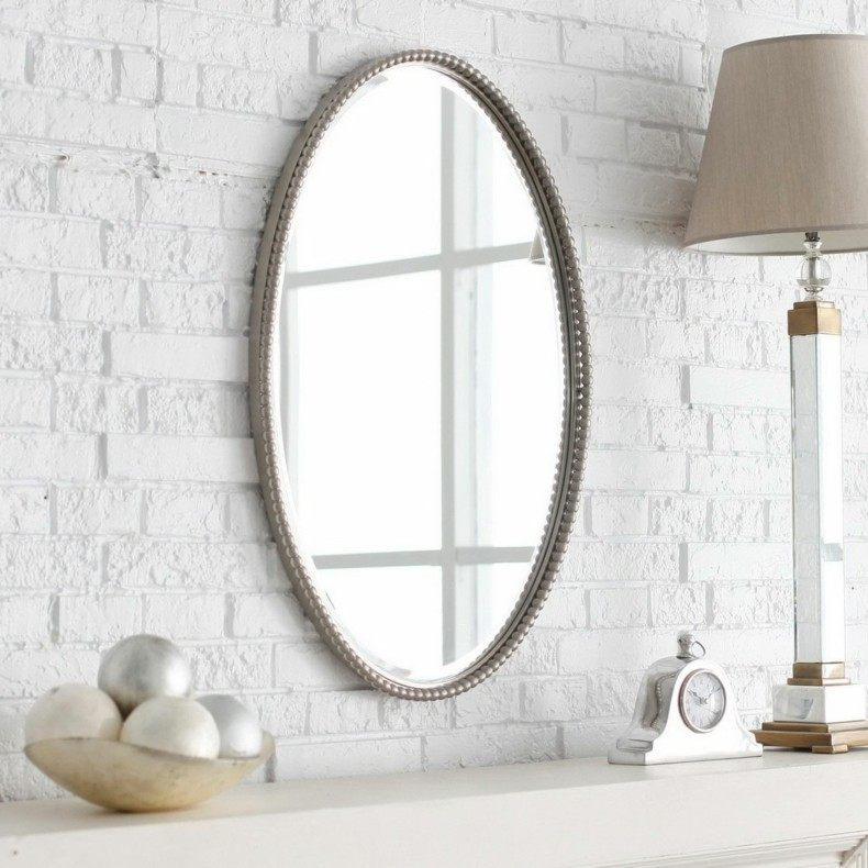 espejos para baños forma ovalada