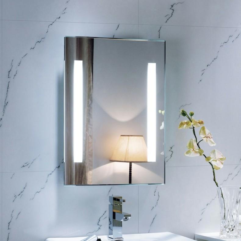 Espejos para ba os modernos 38 modelos con estilo - Focos de espejo de bano ...