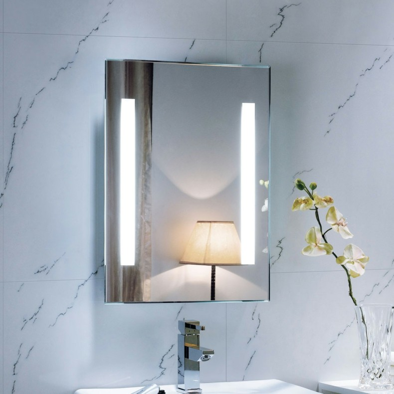 espejo baño luz deco fluorescente