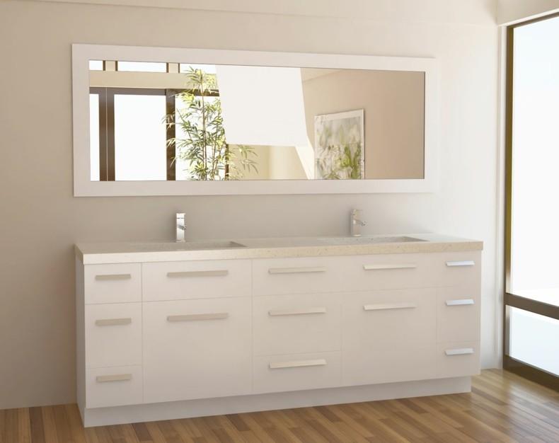 espejo baño forma rectangular blanco