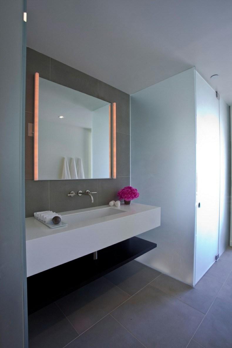 Espejos para ba os modernos 38 modelos con estilo - Luces espejo bano ...