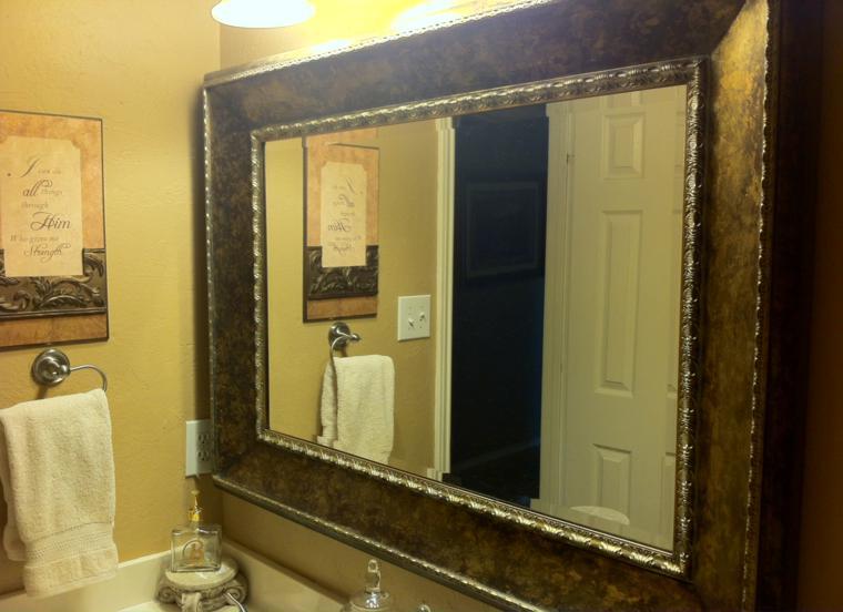 diseño espejo baño retro