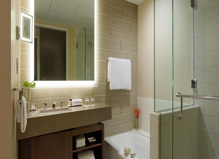 espejo baño marco luces