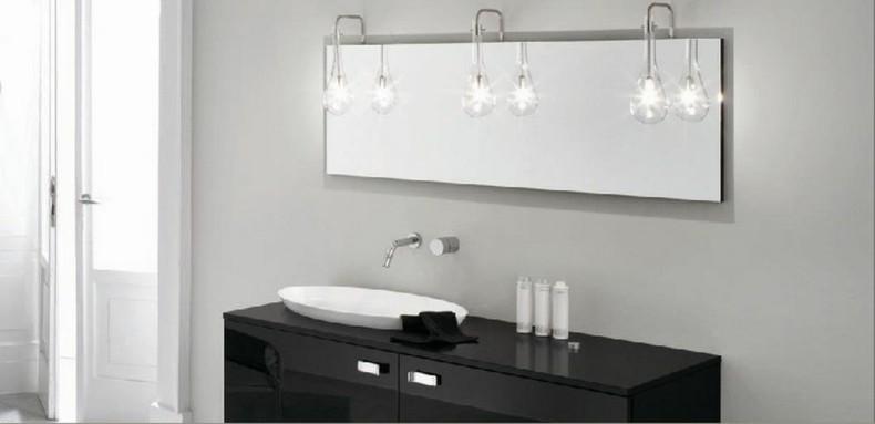 espejo moderno luces colgantes