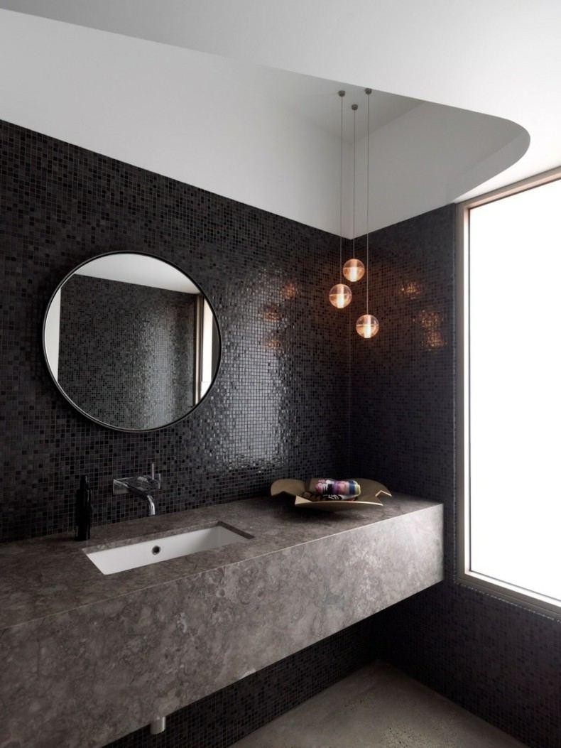 espejo moderno forma redondo balo