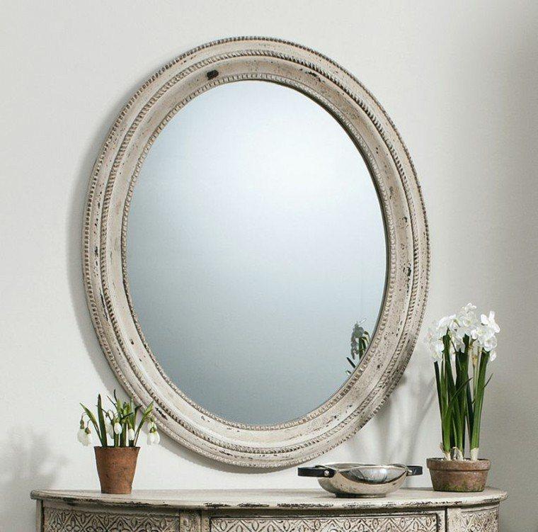 Espejos vintage dise os retro que marcan estilo for Espejos ovalados de pared