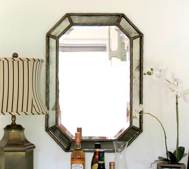 espejo estilo retro original diseño