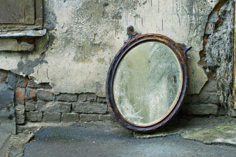 original decoración espejo redondo