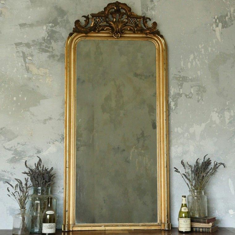 espejo estilo vintage rectangular vertical