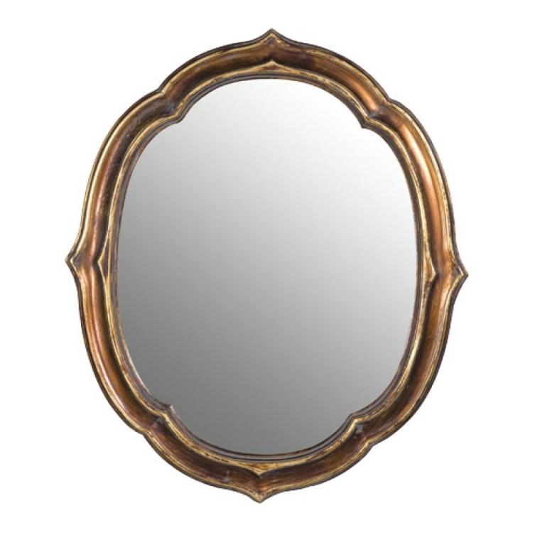 espejo diseño estilo doradop retro
