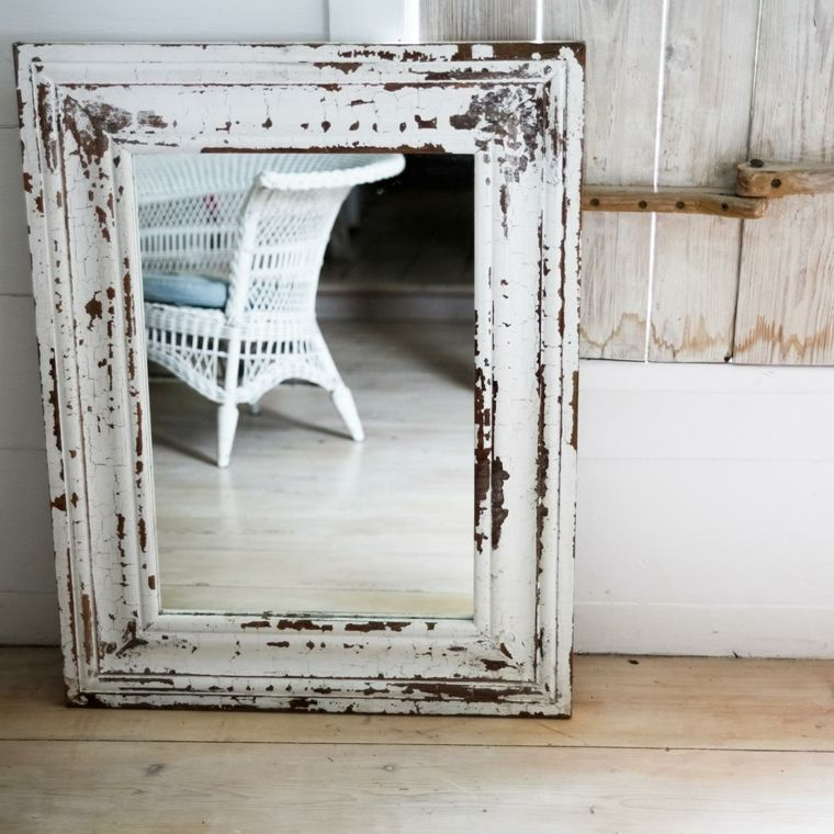 espejo estilo retro marco despintado