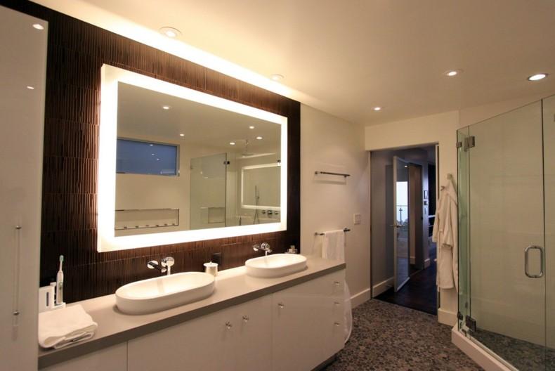 Espejos para ba os modernos 38 modelos con estilo for Espejos grandes con marco