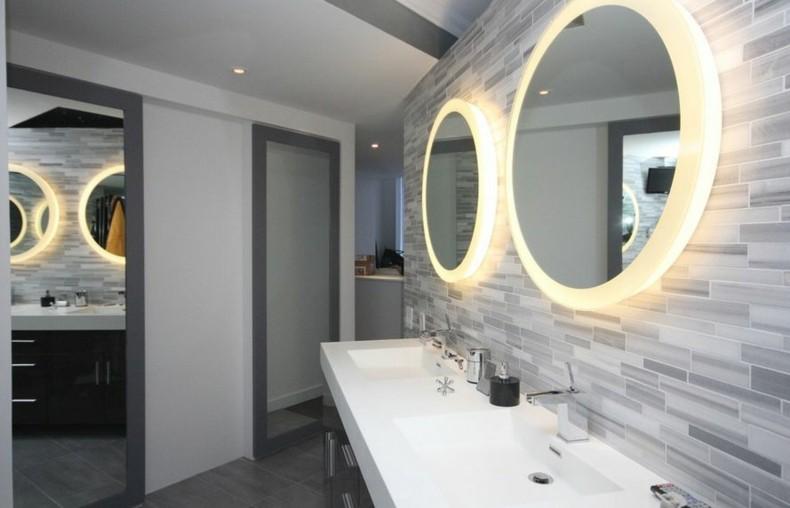 espejos redondos luces bao