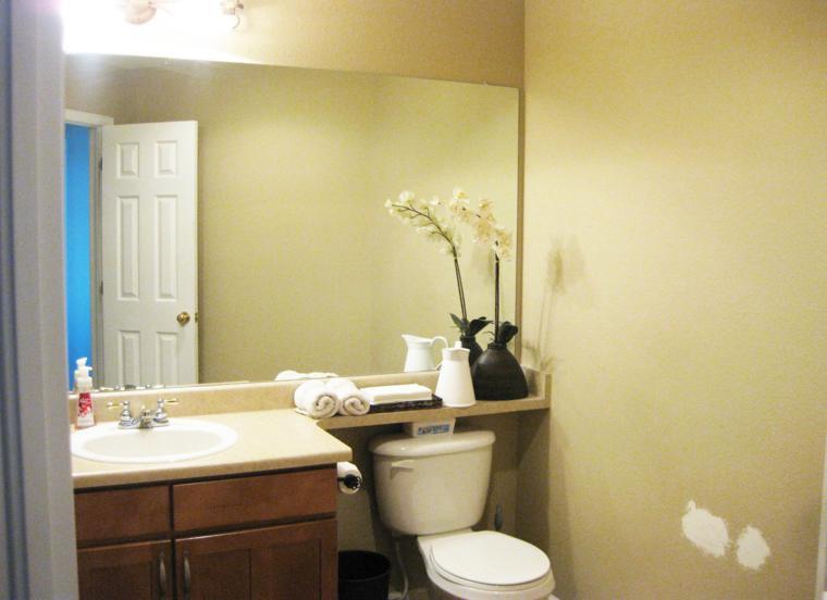 Ba o pequeno rectangular for Espejos para banos pequenos