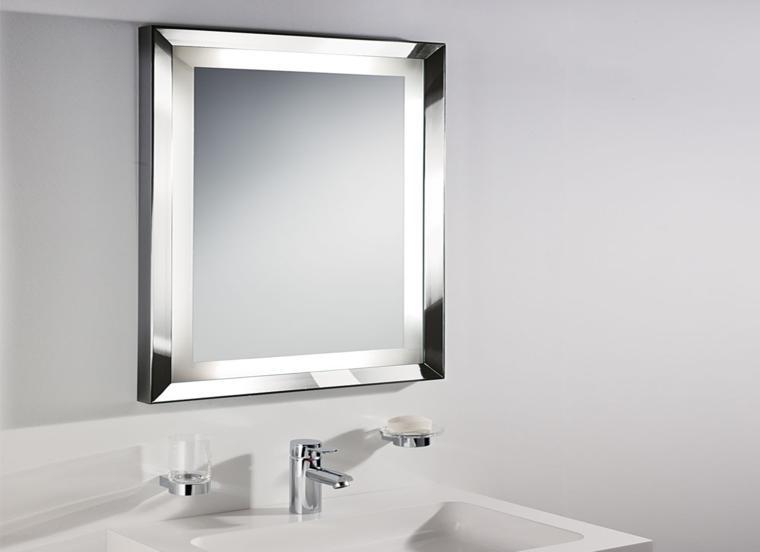 espejo moderno forma cuadrada
