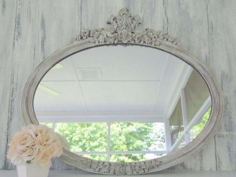 espejos vintage acabados madera blanca ideas
