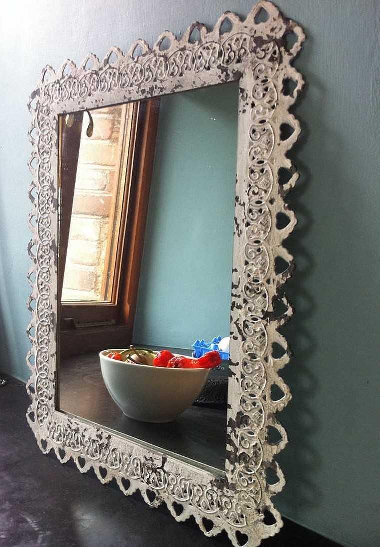 Espejos vintage 38 ideas de adornos de poca Espejos vintage sin marco