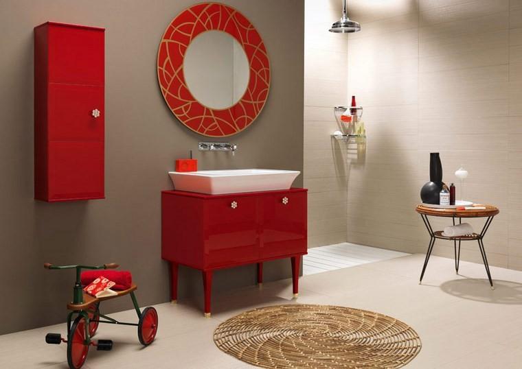 espejo vintage color rojo llamativo ideas