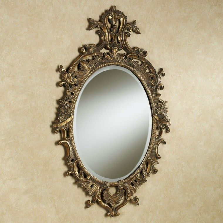 Espejos vintage dise os retro que marcan estilo for Disenos de espejos tallados en madera