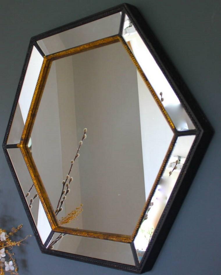 espejos vintage forma hexagonal preciosa ideas