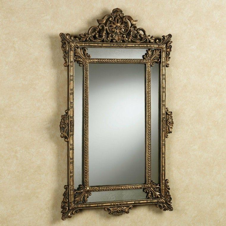 espejos vintage forma rectangular dorados