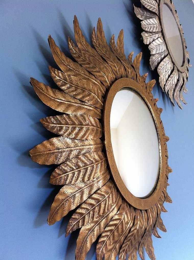 espejo vintage hoja otono ideas