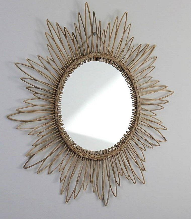 espejo vintage original rattan ovalado ideas