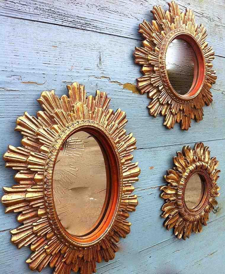 espejo vintage oro tres opciones ideas