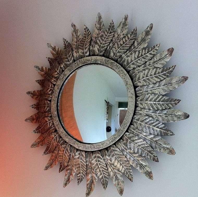 espejo vintage plumas pajaro ideas