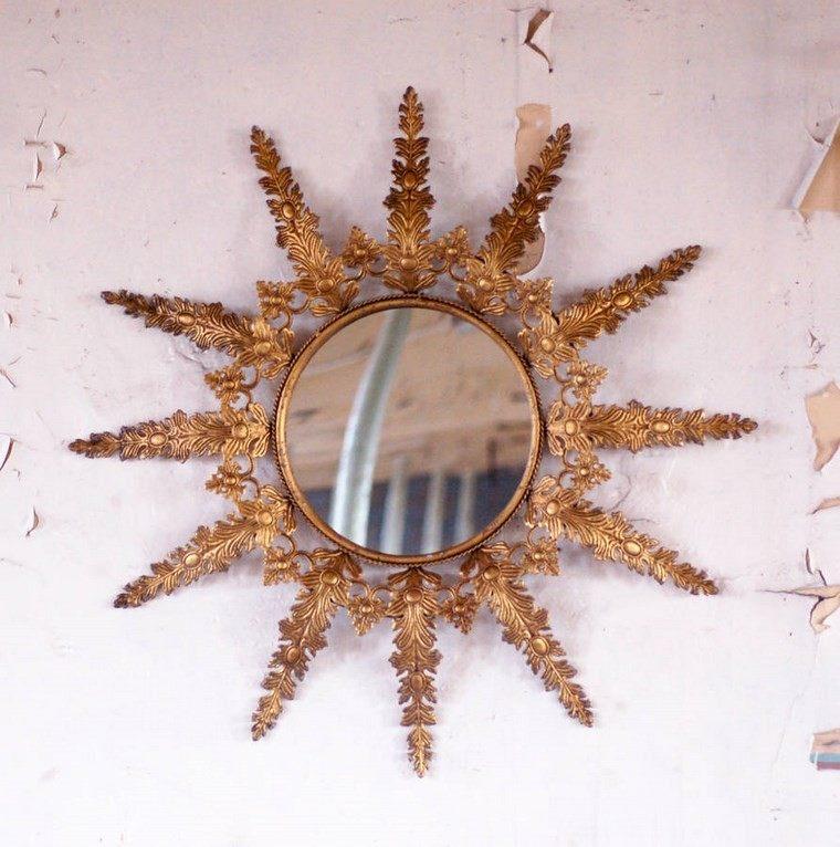 espejo vintage redondo efecto sol ideas