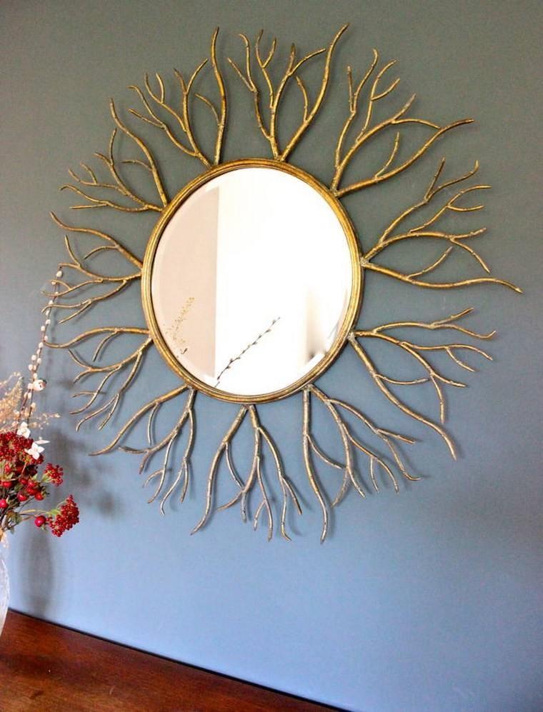 Espejos vintage 38 ideas de adornos de poca for Espejo redondo vintage