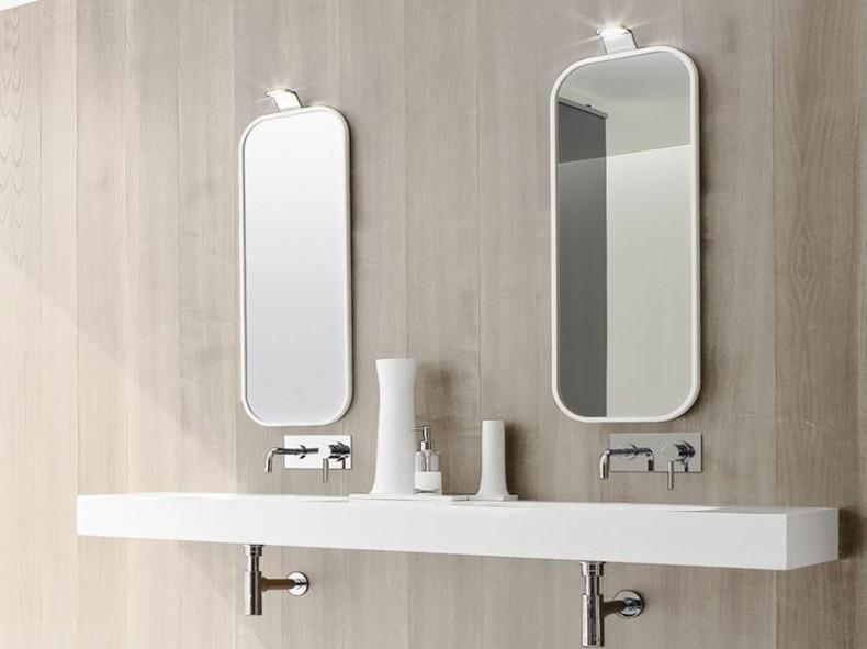 diseños espejos para baños modernos