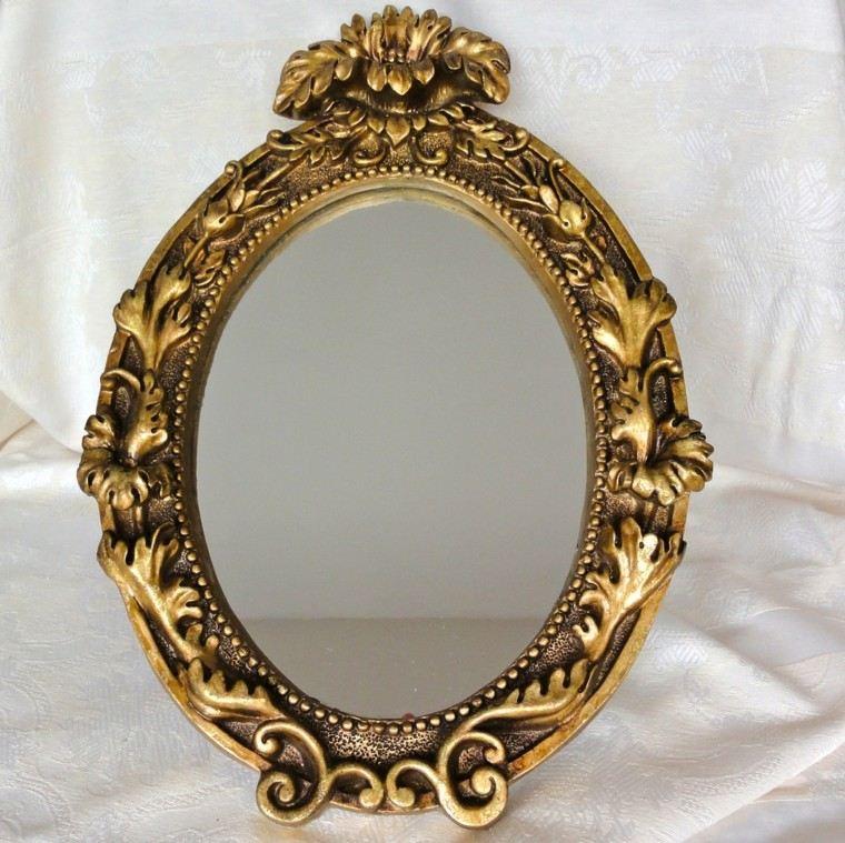espejos vintage ovalado color dorado