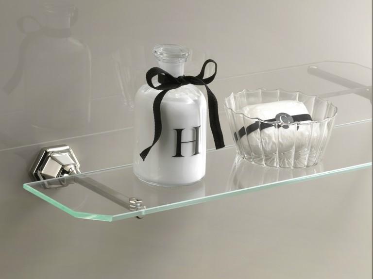 Estanterias para ba os m s de 38 modelos pr cticos y for Estantes vidrio bano