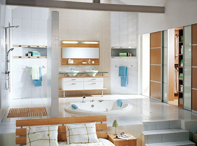 Estanterias para ba os ganando espacios funcionales - Estanterias de cristal para banos ...