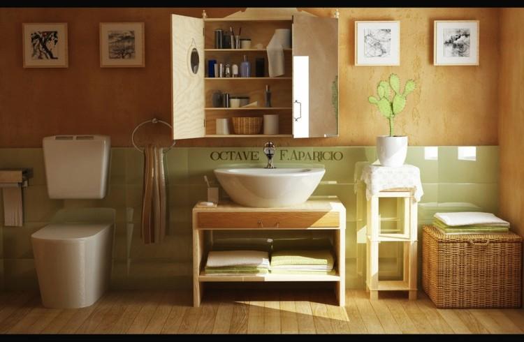 Botiquin Rustico Para Baño:Estanterias para baños, ganando espacios funcionales